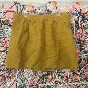 Mustard Corduroy Skirt